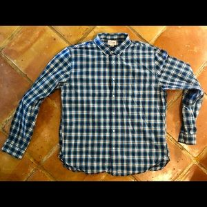 Lands End casual long sleeve button down XL